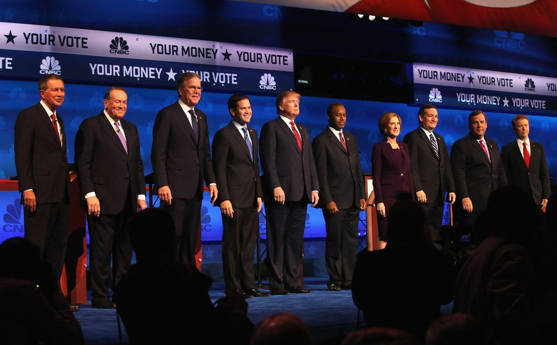 CNBC GOP primary debate candidates